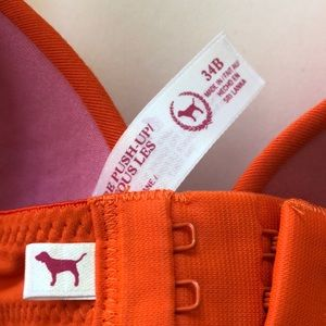 PINK Victoria's Secret Intimates & Sleepwear - ⭐️ VS Pink Orange Racerback Push-Up Bra